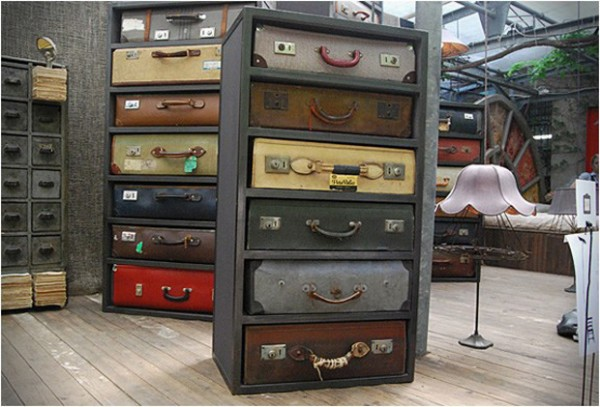 Top Vintage Suitcases Repurposed as Uniquely Awesome Drawers GK48