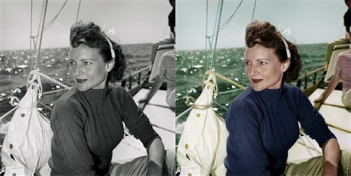 Colorized bw portraits of celebrities from the past