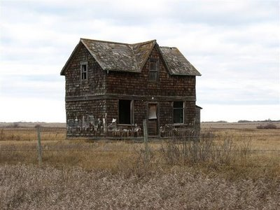 The House Is Located Off Highway 2 Near Sinclair, Manitoba, Canada. Via  Bliss And CBC