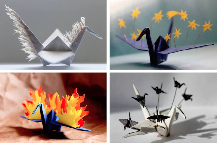 Artist Folds A New Paper Crane To Describe Each Day Of The Year For