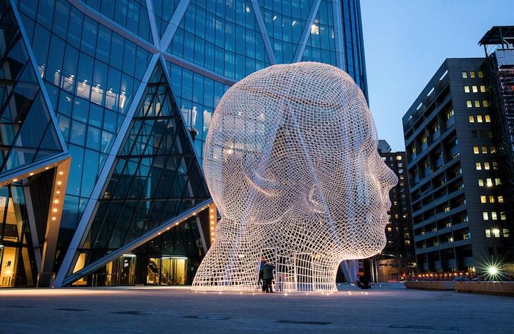Massive New Head Sculpture You Can Walk Through