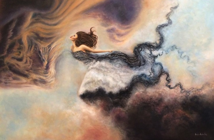 """Artist Creates Fantastical Worlds By """"Painting With Dreams"""""""
