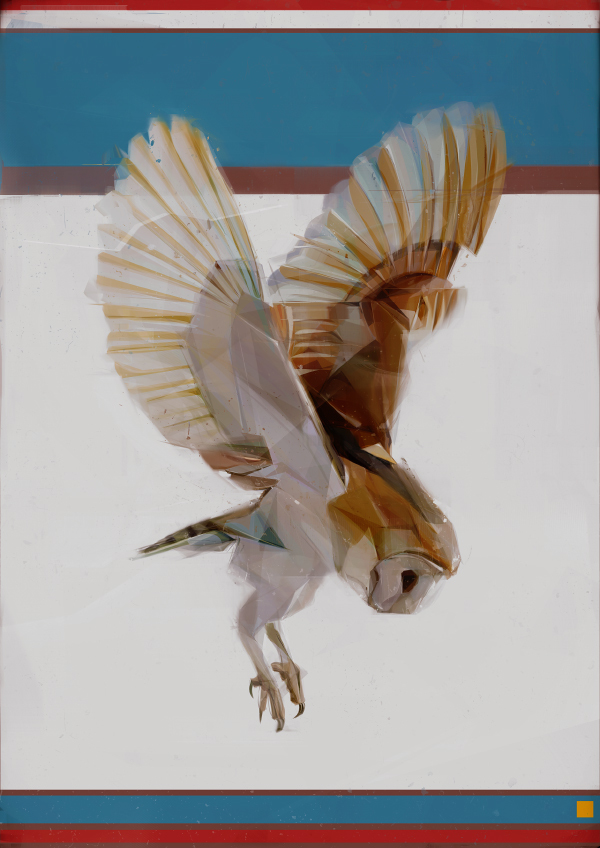 Dynamic Paintings of Birds Capture the Essence of Flight
