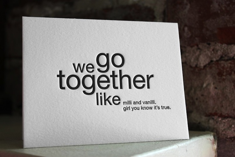 funny letterpress cards for the lovestruck - Clever Valentine Sayings