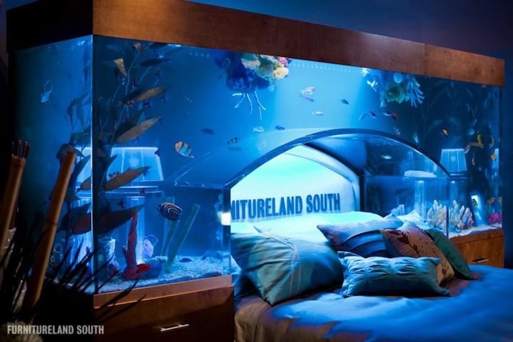 Aquarium Bed Part - 17: Tanked Bed On Facebook Via [Laughing Squid]