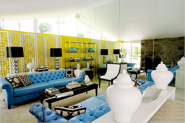 Can you believe that this is a redesigned tract house in - Palm springs interior design style ...
