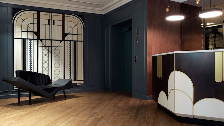 & Parisian Hotel Revives the Roaring 20s with Snazzy Art Deco Interiors