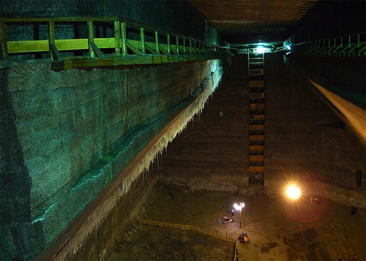Old Romania Salt Mines Converted Into 370ft Deep Museum