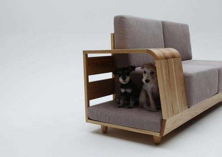 Cozy Pet Nook Hidden Within Everyday Sofa