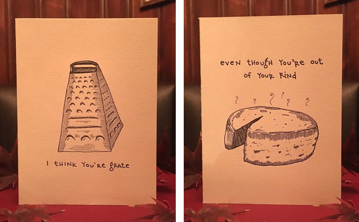 Birthday Card Food Puns ~ Serves up delicious food puns in amusing series of greeting cards