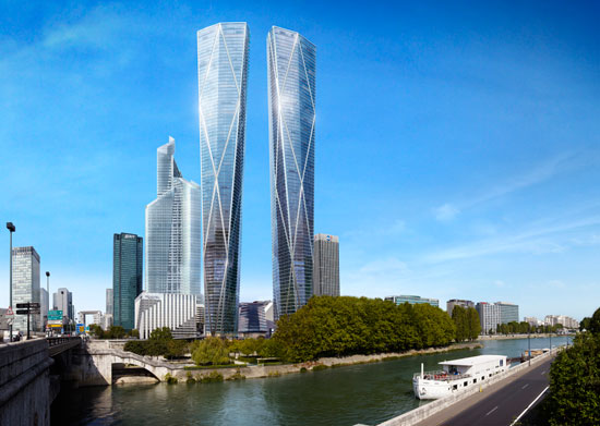 A light catching addition to the paris skyline the development will also provide a public piazza that leads down to the rivers edge to create a new