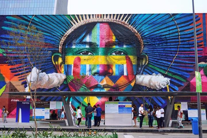 Brazilian Graffiti Artist Paints World S Largest Street Mural For