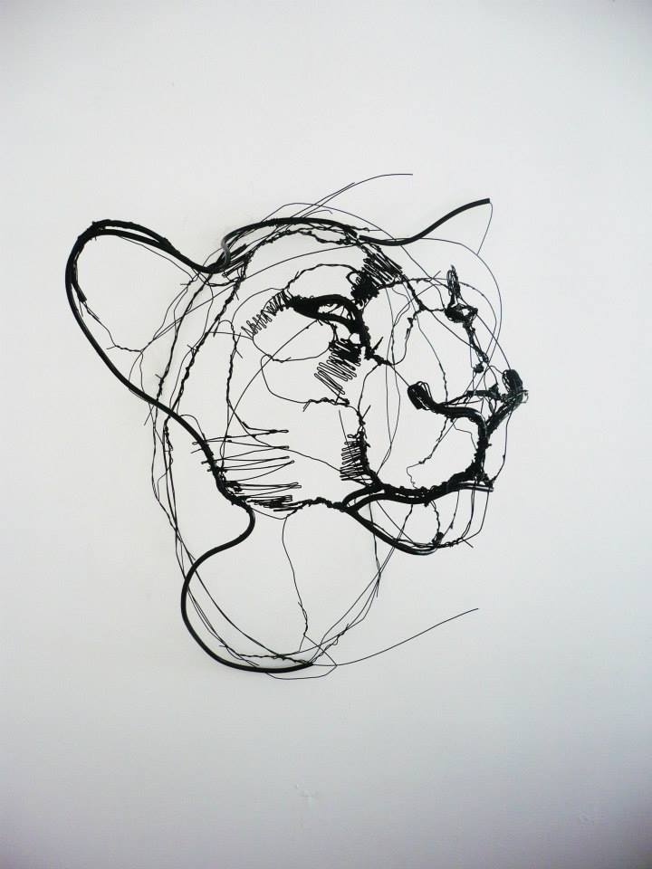 Wire Animal Sculptures Look Like Life-Size Scribbled Drawings ...