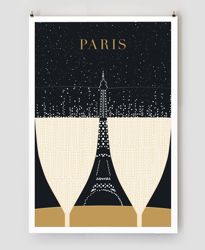 new paris travel posters focus on moments over monuments