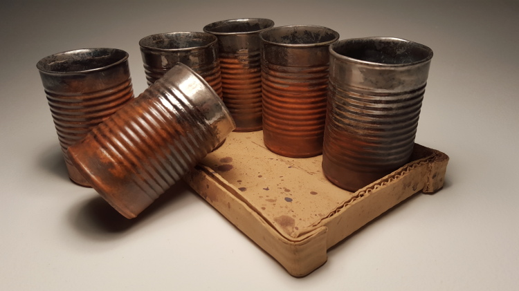Rusted Metal Can Tumblers Made Of Ceramic