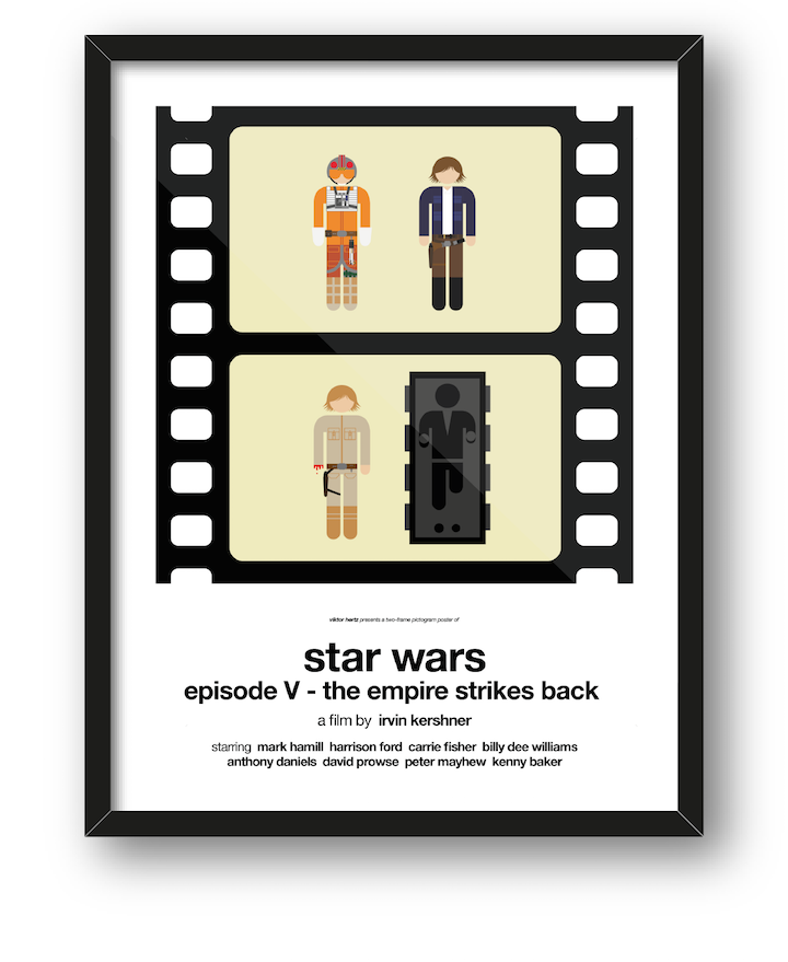 Clever Pictogram Movie Posters Summarize an Entire Movie in Two Frames