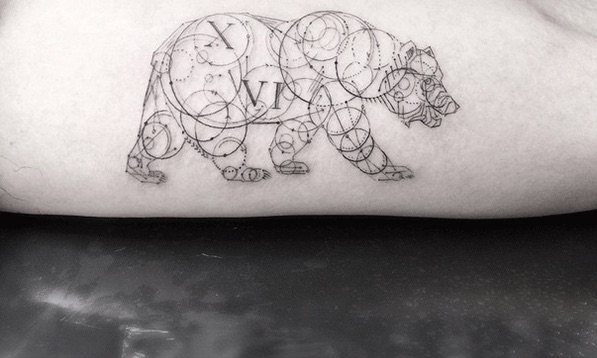 Geometric fine line tattoos by la 39 s famous dr woo for Lucky drive tattoo parlour