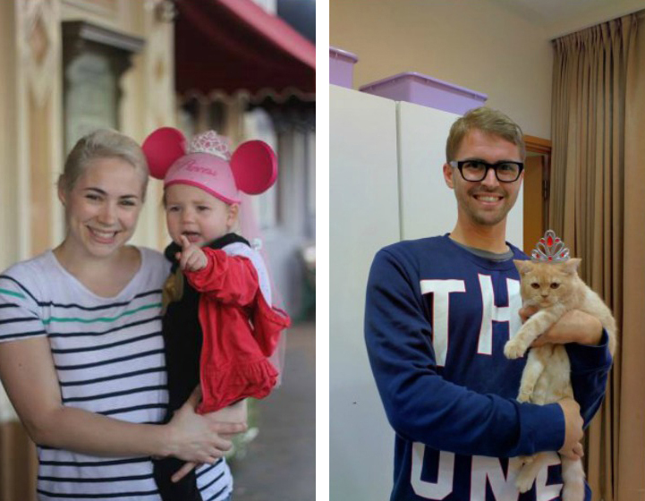 funny brother recreates twin sister family photos