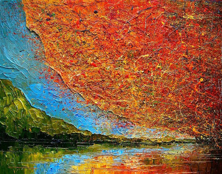 Textured Oil Paintings Capture the Colorful Essence of Autumn