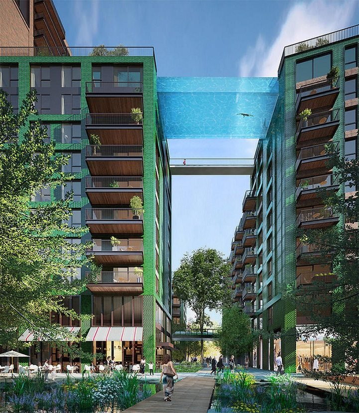 Suspended Glass-Bottomed Pool to be a Swimmable Pathway ...