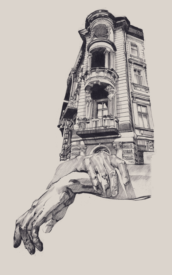 Architecture building drawing Pencil Pixabay Surreal Drawings Of Hands Cradling Architecture