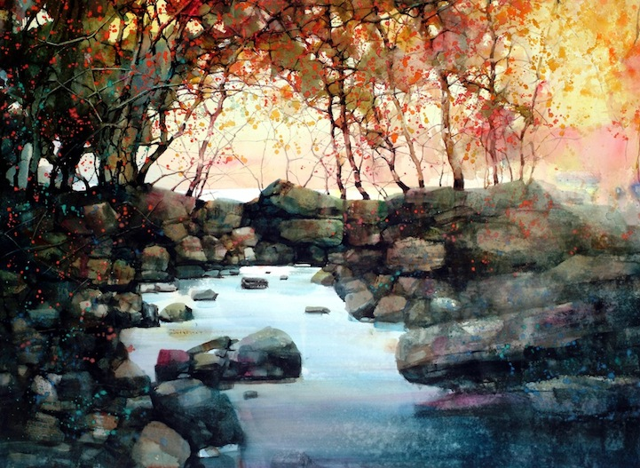 Beautiful Watercolor Landscapes 12 Pieces