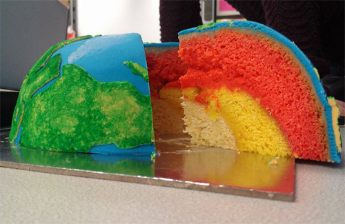 Cake Of The Earths Layers