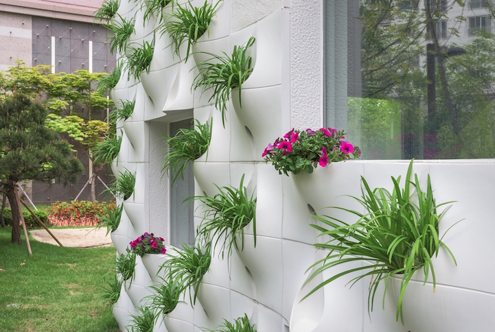 Architects Design Home With Flower Pots Built Into The Exterior Walls Interesting Designs For Pots Decoration