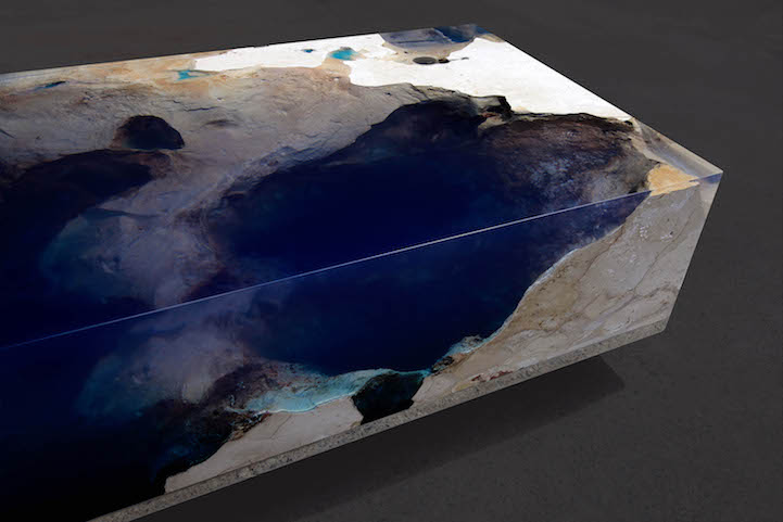 Natural Stone and Resin Table Brings the Beauty of a ... Michelle Obama Graduation
