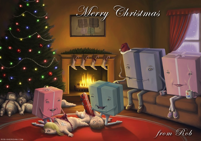 12 Shocking Christmas Cards