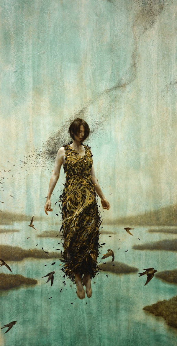 gorgeous new oil and gold leaf painting by brad kunkle