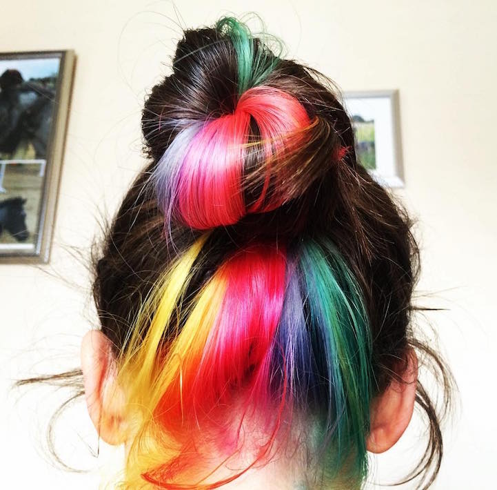 "Color Trends What S New What S Next: ""Hidden Rainbow Hair"" Trend Conceals Vibrant Colors"
