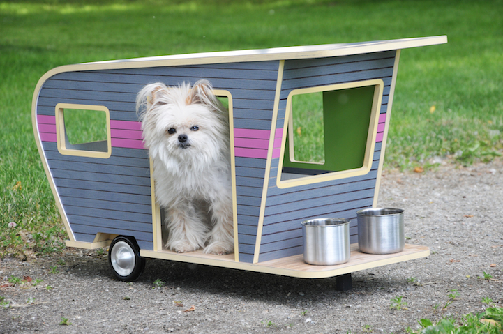 Adorable Pet Camper Is A Miniaturized Trailer For A Small Dog