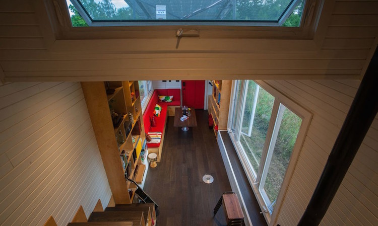 Upcycled Materials Throughout Canadian Tiny Home