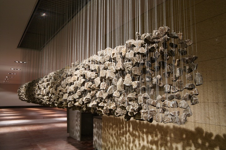 Amazing Three Dimensional Suspended Rock Installations