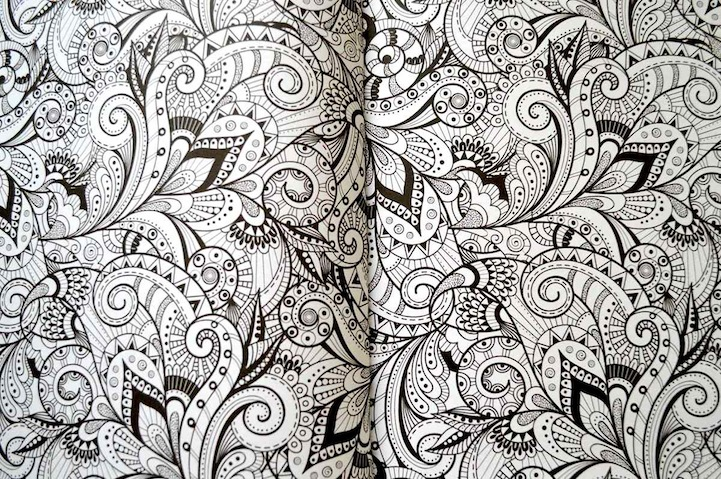 Anti-Stress Coloring Book Offers Fun Creative Therapy for Adults