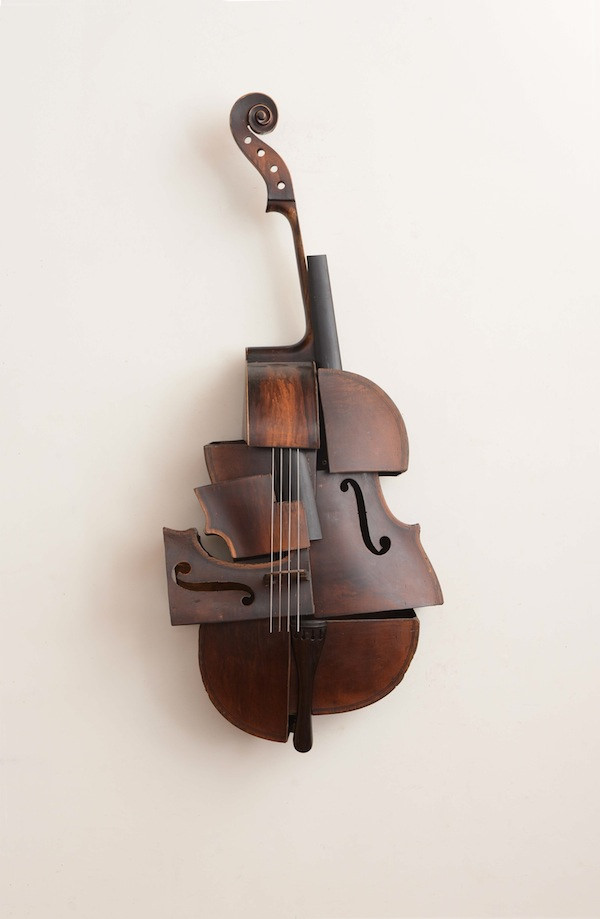 Elegant Sculptures Formed From Deconstructed Instruments