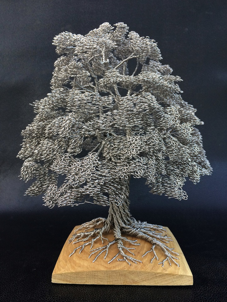 Artist Tightly Winds Wire to Create Beautiful Tree Sculptures ...