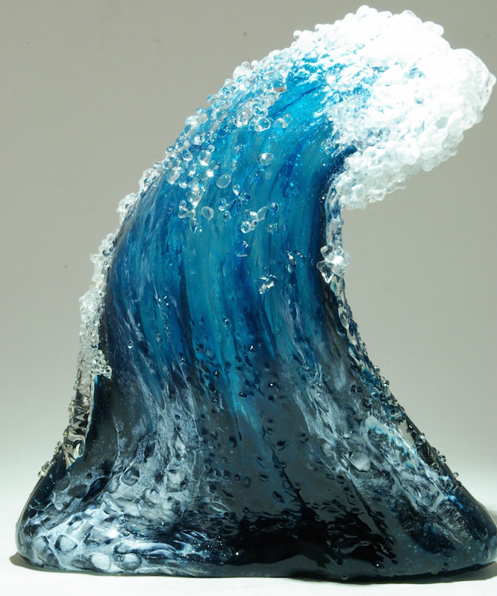 Ocean Inspired Glass Vases And Sculptures Capture The Beauty Of Cascading Waves