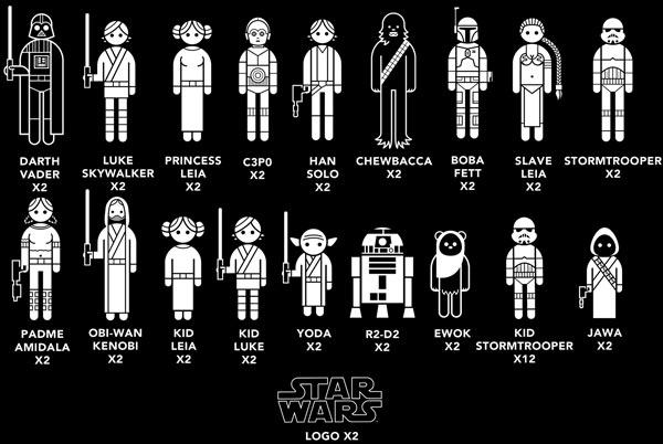 Fun Star Wars Family Car Decals