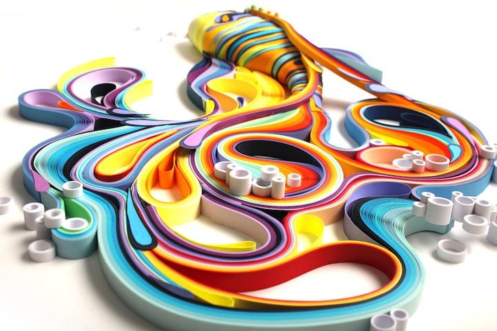 Beautiful 3D Paper Sculpture of a Fish by Yulia Brodskaya
