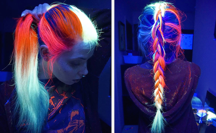 Glow-In-The-Dark Hair Is the Latest Fun Hair Trend to Light ...