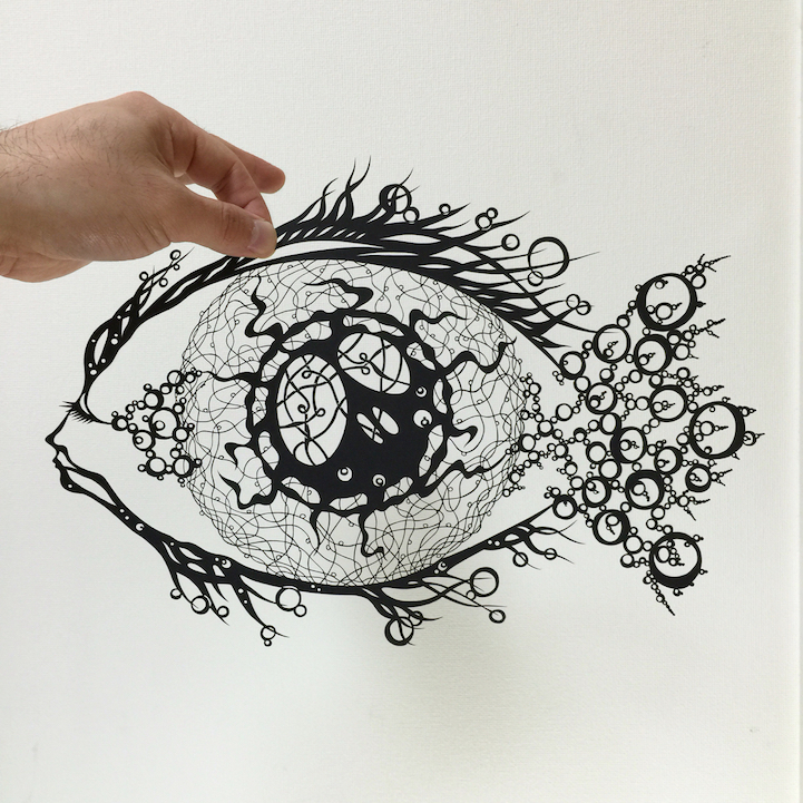 Intricately Detailed Papercut Designs Reflect Beauty Of