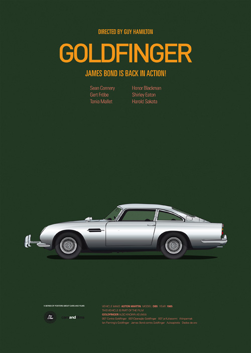 classic posters of iconic movie cars. Black Bedroom Furniture Sets. Home Design Ideas