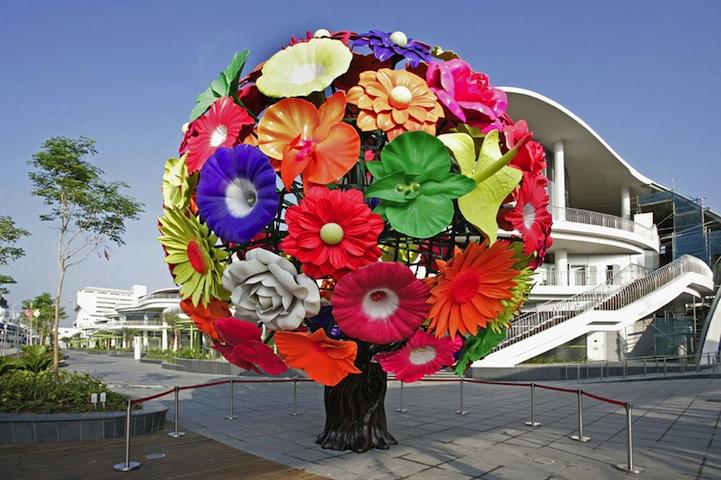 Giant Flower Tree Symbolizes Everlasting Nature