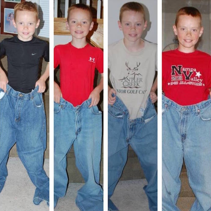 Allison S Brother Ryan Wearing His Dad Jeans As The Years Go By