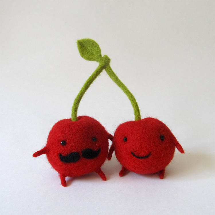 Companionship In Happy Felted Cherries