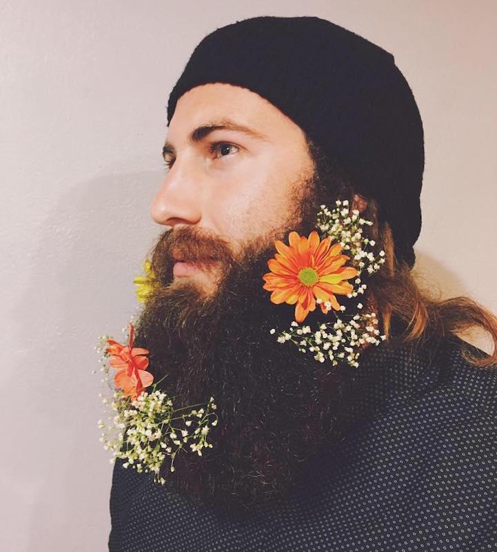 Men Flower Beards