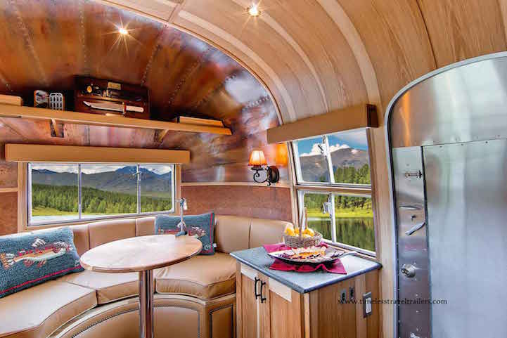 1950s Airstream Trailer Restored As Modern Mobile Home