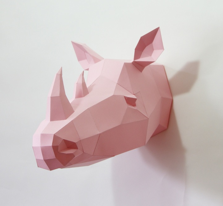Artist Designs Diy Paper Templates For Adorable 3d Geometric Animals